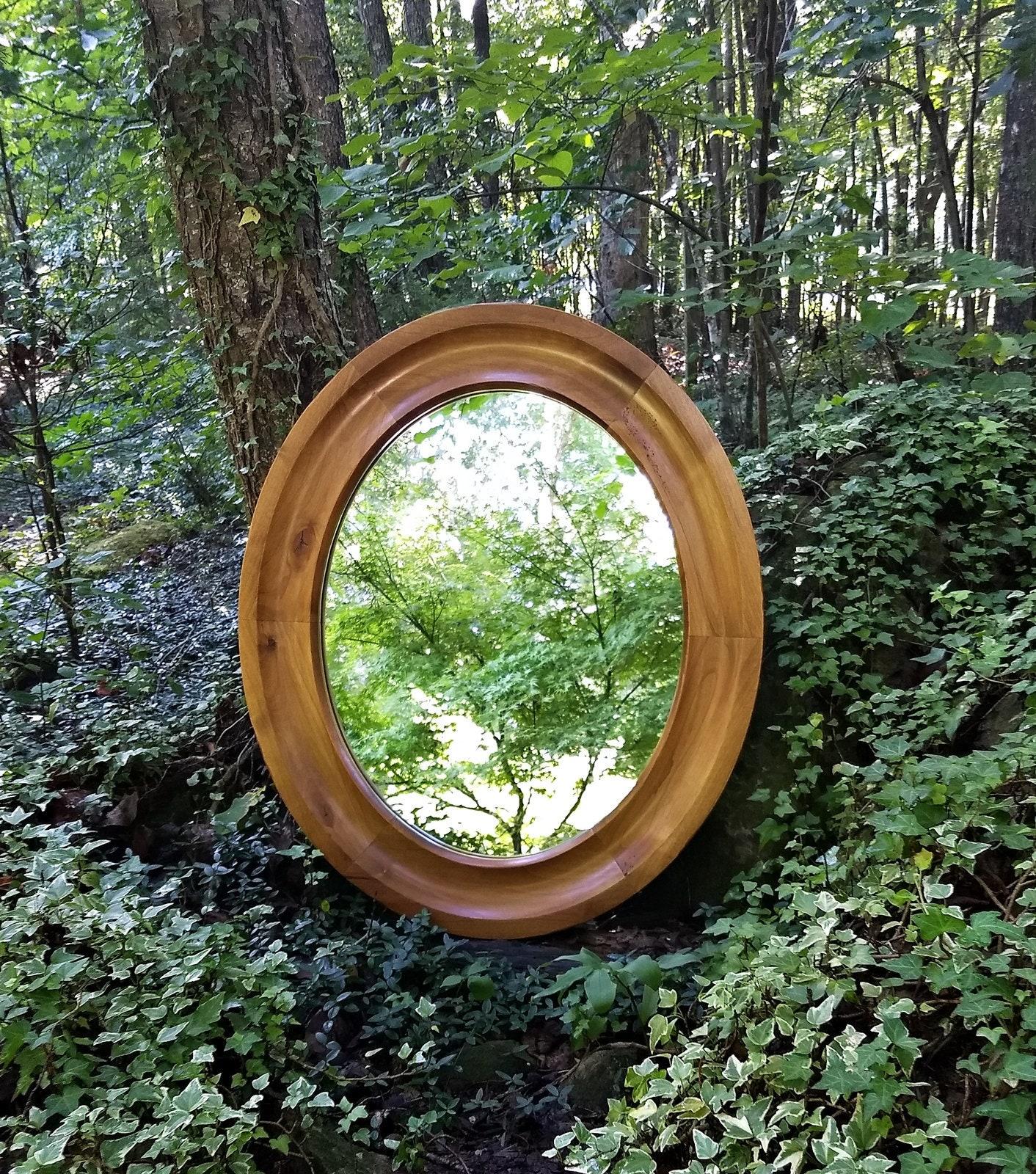 Oval Mirror Custom Oval Mirror Alder Oval Mirror Wood Frame