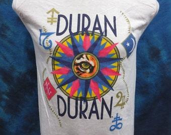 38029b661d8 XXS    vintage 1984 DURAN DURAN tour Muscle T-Shirt rock new wave pop  concert soft thin tank top 80s