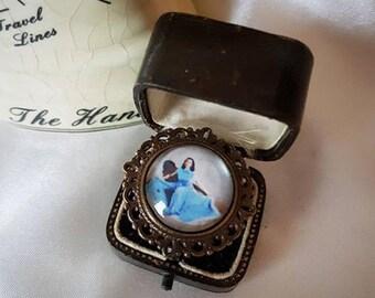 Thumbelina Vintage Bronze Filigree Ring