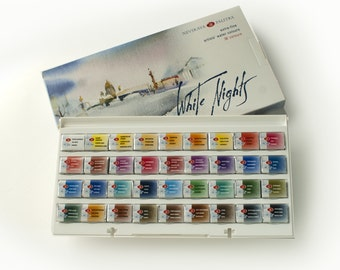 watercolor paint set professional st petersburg white nights etsy