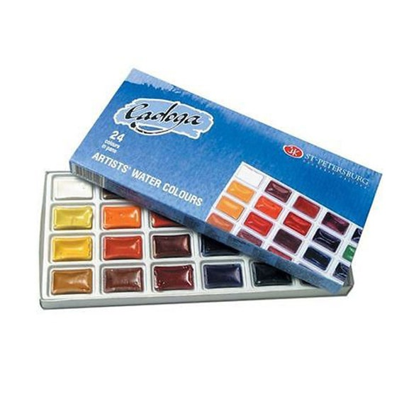 set of 24 artists watercolors ladoga 24 colors in 2 5 ml full etsy