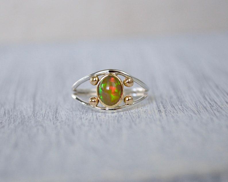 OpalEthiopian Opal RingGoldGold Opal Ring18K Gold Opal RingSterling Silver Gold Opal RingSize 8.5 Opal Ring