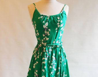 Vintage Maxi Dress, Size 6, Malia, Floral Maxi Dress, 1970s Maxi Dress
