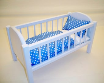Wood Baby Doll Crib Etsy