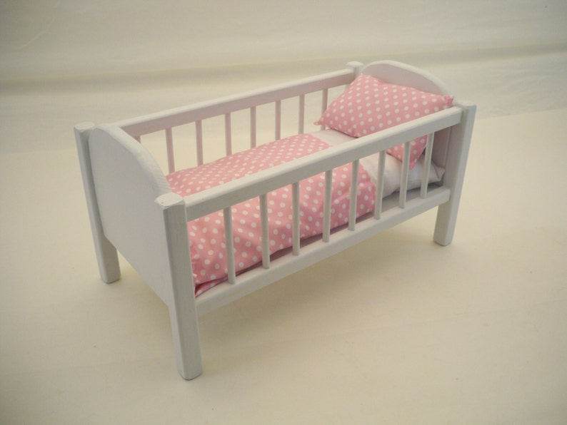 Doll Criib Wood Doll Crib19inch Doll Crib Doll Bed Etsy