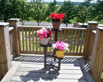 Plant Stand, Wood Plant Stand, Wooden Plant Stand, Deck Plant Stand, Indoor Flower Stand, Wood Indoor Flower Stand,  Deck Planter,
