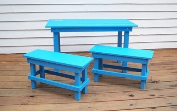 Excellent Kids Wood Picnic Table And Benches Kids Table And Two Benches Kids Play Table Kids Picnic Table Kids Play Table Table And Chairs Bralicious Painted Fabric Chair Ideas Braliciousco