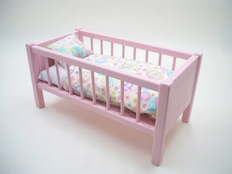 Wood Doll Crib Doll Bed American Doll Bed Doll Crib Etsy