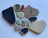 Scottish beach pottery, sea pottery,sea glass pottery, sea beads, Scottish beach finds, jewelry making supply, jewellery supplies
