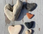 heart shaped beach pebbles , Scottish beach finds, beach home decor, rocks stones pebbles, terracotta hearts , decorative ornamental pebbles