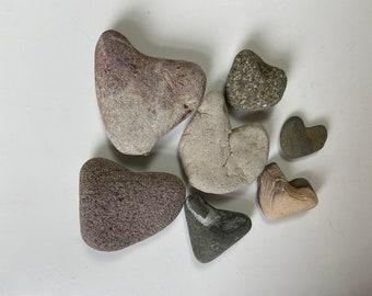 beach home decor decorative ornamental pebbles terracotta hearts heart shaped beach pebbles Scottish beach finds rocks stones pebbles