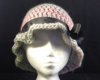 Sparkly Grey Cloche Hat