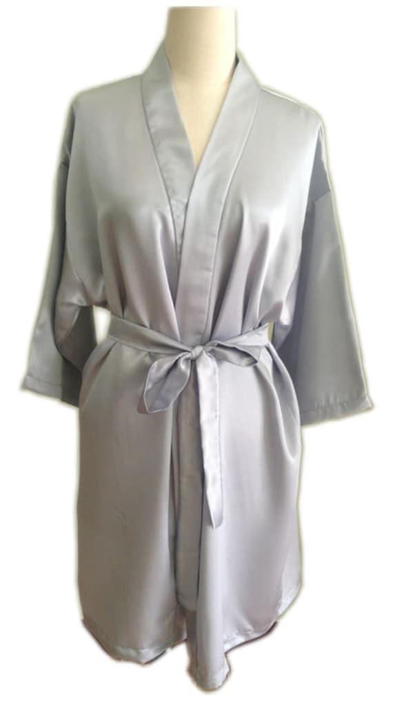 Verkauf grau Satin Kleid Braut Kimono Bademantel | Etsy