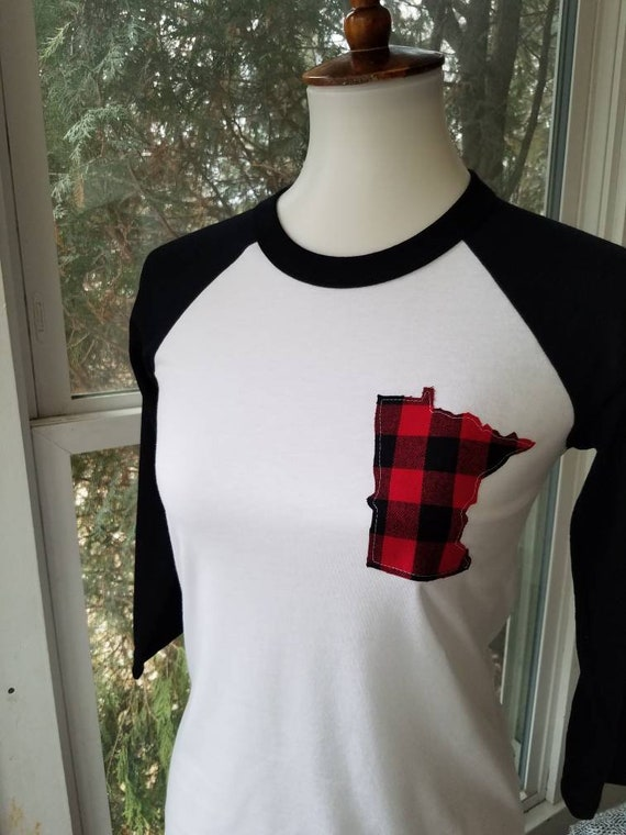 Minnesota Raglan Shirt | MN Shirt | Minnesota Baseball Shirt | Minnesota Shirt | MN Shirt | Buffalo Plaid Shirt | Buffalo Plaid