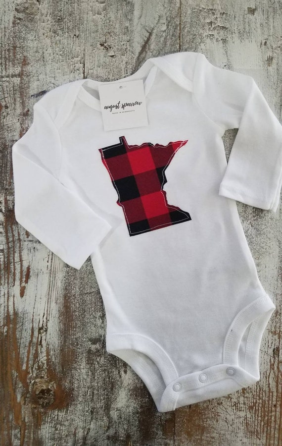 Minnesota Bodysuit | State Bodysuit | Minnesota Baby | Made in Minnesota | Baby  Bodysuit | Minnesota Love | Long Sleeve |