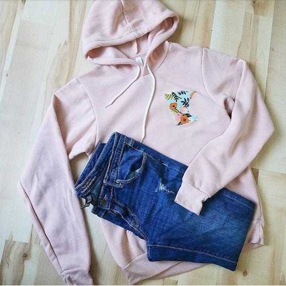 Minnesota Hoodie | Minnesota Sweatshirt | MN Hoodie Sweatshirt | MN Sweatshirt | Floral | Women's Minnesota Sweatshirt |