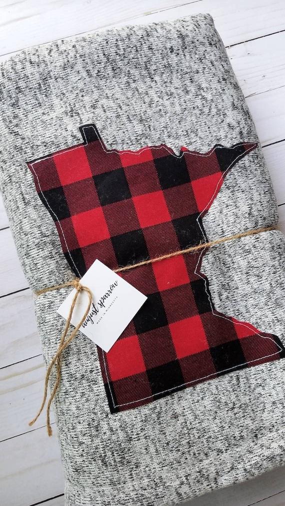Minnesota Sweater Fleece Throw Blanket | Minnesota Blanket | Cabin Blanket | Lake Blanket | 50x60 Blanket | Minnesota Decor |  | Minnesota