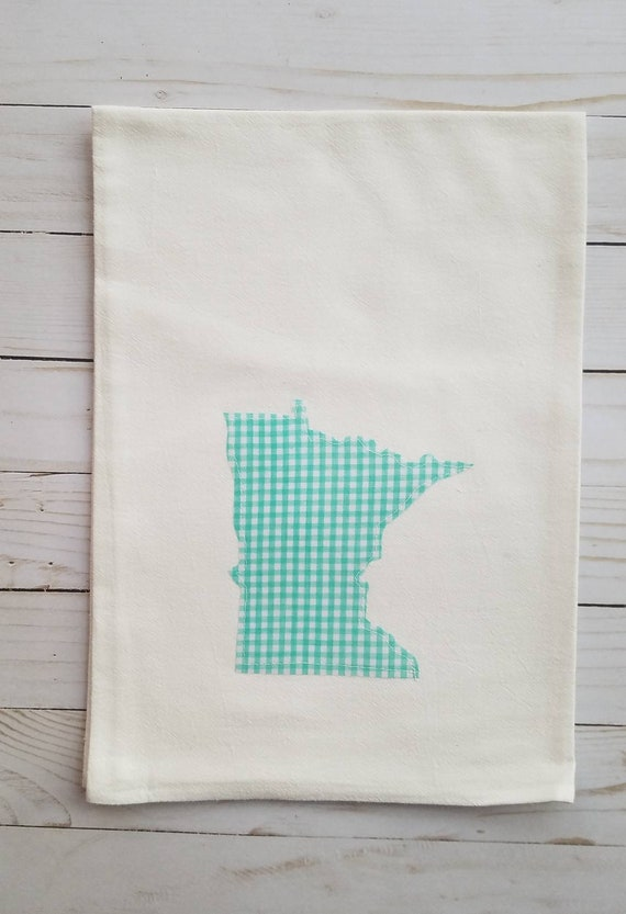 SALE | CLEARANCE | State Flour Sack Towel | Minnesota Dish Towel | Minnesota Flour Sack Towel | Housewarming Gift | State Pride Dish Towel |