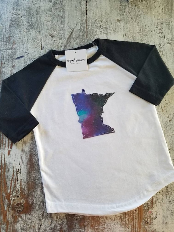 Minnesota Toddler Raglan | State Raglan | Minnesota Baby | Made in Minnesota |  Minnesota Love | Toddler Shirt | Child Shirt | Raglan