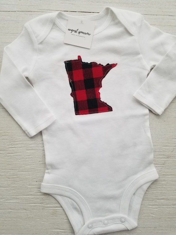 Minnesota Bodysuit | State Bodysuit | Minnesota Baby | Made in Minnesota | Baby  Bodysuit | Minnesota Love | Long Sleeve | Paul Bunyan /Babe