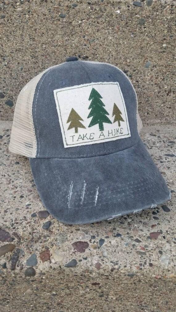 Take a Hike Trucker Hat | Adventure Trucker Hat | Take a Hike | Adventure Awaits Hat | Distressed Trucker Hat | Cute Hat | Trees | Hike