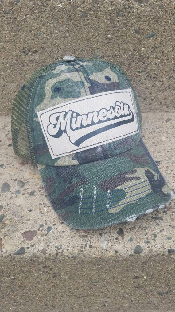 Minnesota Hat | Minnesota Trucker Hat |Trucker Hat | Hat | Distressed Trucker Hat | Gift | Cute Hat | Camo Hat |