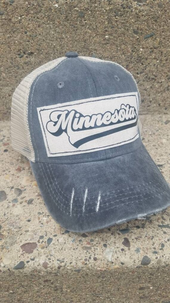 Minnesota Hat | Minnesota Trucker Hat |Trucker Hat | Hat | Distressed Trucker Hat | Gift | Cute Hat |