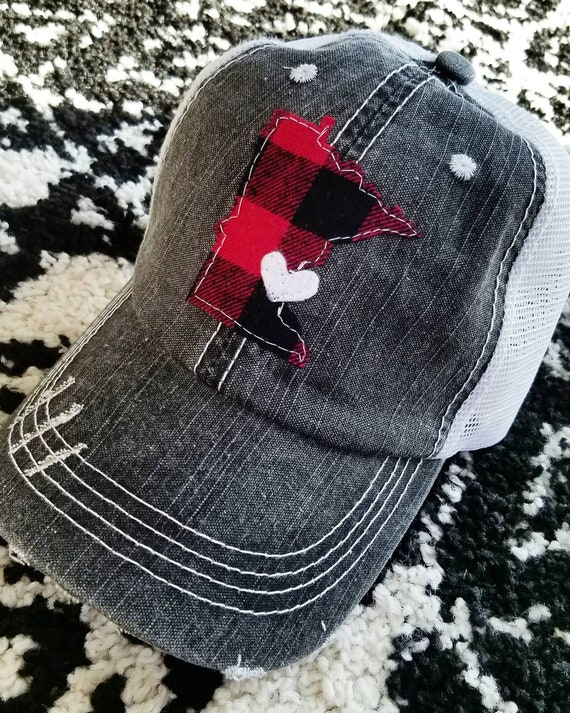 Minnesota Hat | Minnesota Trucker Hat | Minnesota Love | State Hat | State Pride | Trucker Hat | Buffalo Plaid Hat