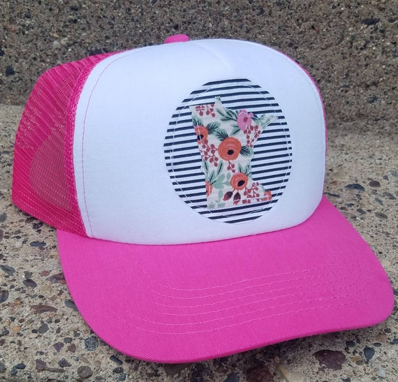 Minnesota Hat | Minnesota Trucker Hat |Trucker Hat | Hat | Floral Trucker Hat | Gift | Cute Hat |