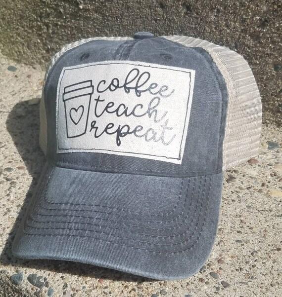 Teacher Hat | Coffee Trucker Hat |Trucker Hat | Inspirational Hat | Baseball Hat | Teacher | Gift | Back To School