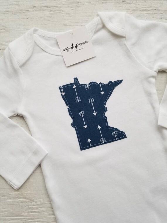 Minnesota Bodysuit | State Bodysuit | Minnesota Baby | Made in Minnesota | Baby  Bodysuit | Minnesota Love | Long Sleeve
