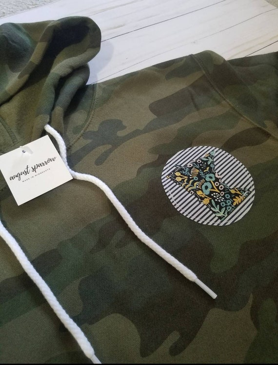 Minnesota Hoodie | Minnesota Sweatshirt | Camouflage Sweatshirt | MN Sweatshirt  | Women's Minnesota Sweatshirt | Mens Sweatshirt |