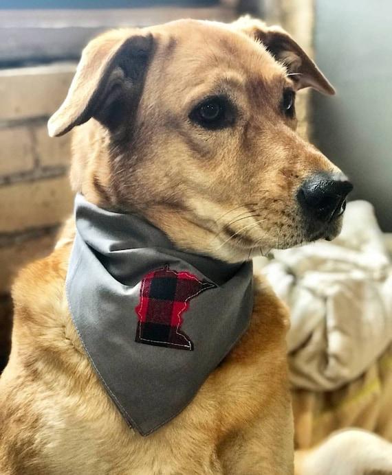 Minnesota Dog Bandana | Dog Bandana | Buffalo Plaid Minnesota  Bandana