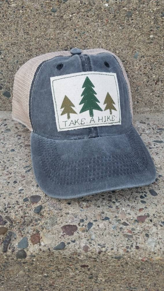 Take a Hike Trucker Hat | Adventure Trucker Hat | Take a Hike | Adventure Awaits Hat | Distressed Trucker Hat | Cute Hat | Trees | Hike