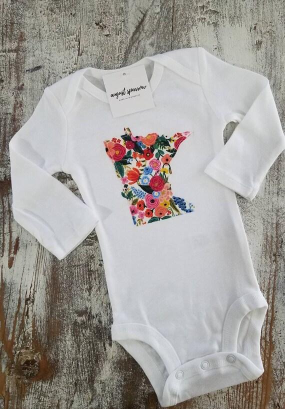Minnesota Bodysuit   State Bodysuit   Minnesota Baby   Made in Minnesota   Baby  Bodysuit   Minnesota Love   Long Sleeve  