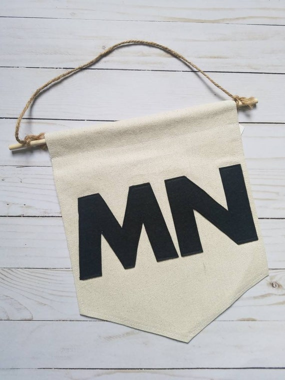 Minnesota Banner | Minnesota Wall Hanging | Minnesota Decor