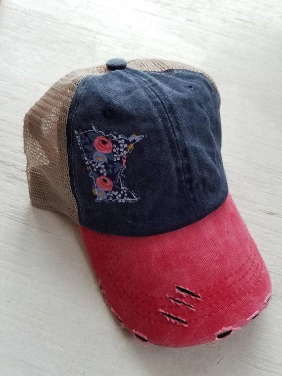 Minnesota Hat | MN Hat | Trucker Hat | Minnesota Trucker  Hat | Minnesota Twins | Twins Baseball | Distressed Trucker Hat | Minnesota |