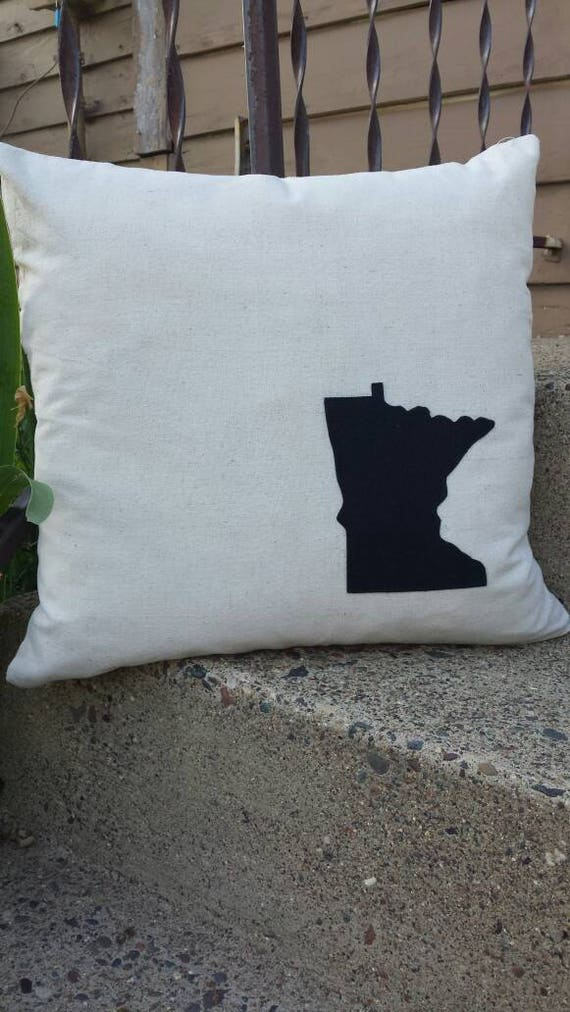 Basic Collection | Minnesota Pillow | State Pillow | Minnesota Home Decor | State Home Decor | Cabin Decor | Lake Decor