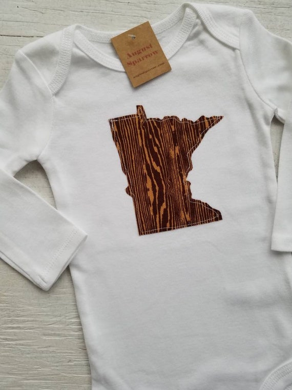 Minnesota Bodysuit | State Bodysuit | Minnesota Baby | Made in Minnesota | Baby Bodysuit | Minnesota Love | Long Sleeve