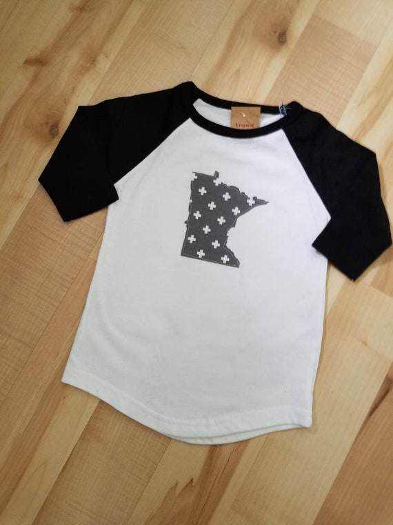 Minnesota Kids Raglan Shirt | Kids Raglan | Child Raglan  | Minnesota Shirt