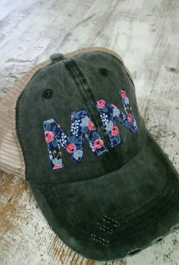 Minnesota Hat   State Trucker Hat   Minnesota Distressed Hat   Distressed Minnesota Trucker Hat   gray hat with khaki mesh   Floral   State