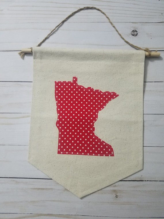 SALE | CLEARANCE | Minnesota Banner | Minnesota Wall Hanging | Minnesota Decor | Sale