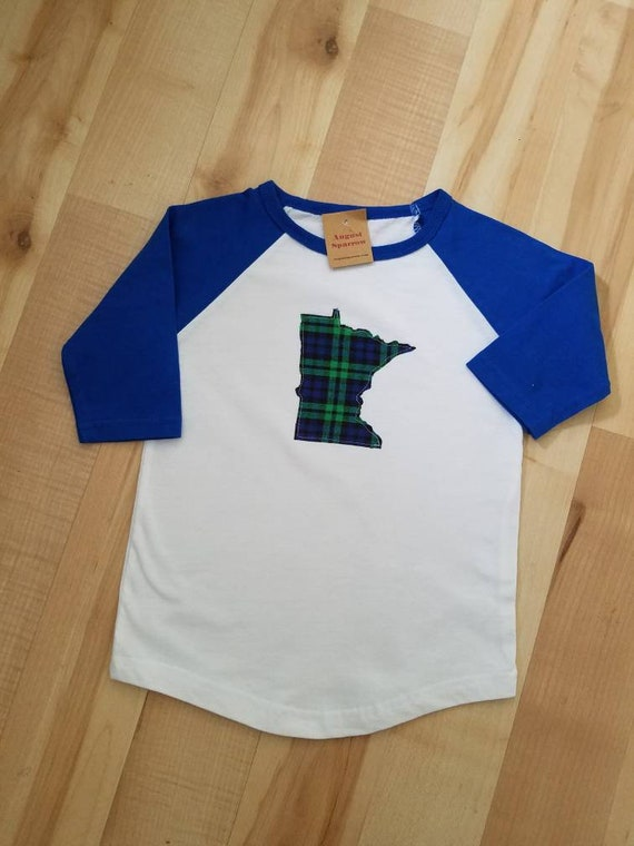 Minnesota Kids Raglan Shirt | Kids Raglan | Child Raglan  | Minnesota Shirt |
