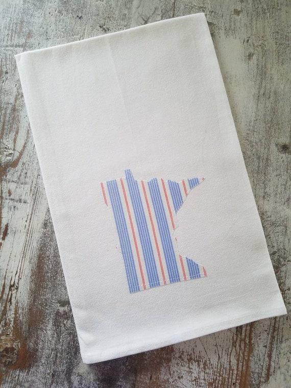 State Flour Sack Towel | Minnesota Dish Towel | Minnesota Flour Sack Towel | Housewarming Gift | State Pride Dish Towel | Gift Set | Donuts