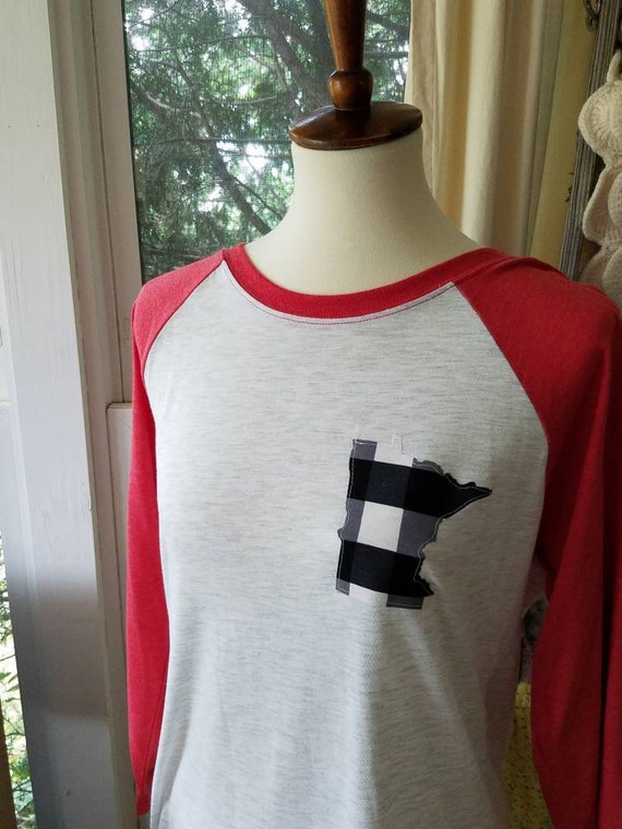 Minnesota Raglan Shirt | MN Shirt | Minnesota Baseball Shirt | Minnesota Shirt | MN Shirt
