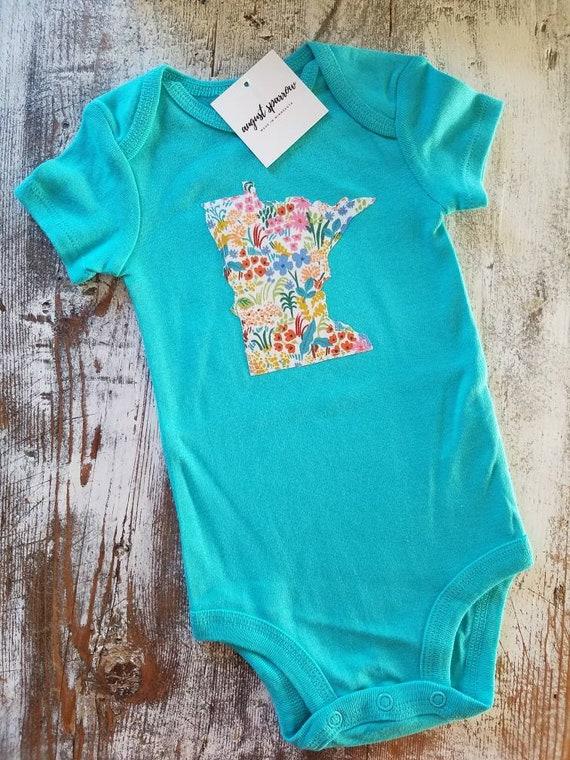 Minnesota Bodysuit   State Bodysuit   Minnesota Baby   Made in Minnesota   Baby  Bodysuit   Minnesota Love  