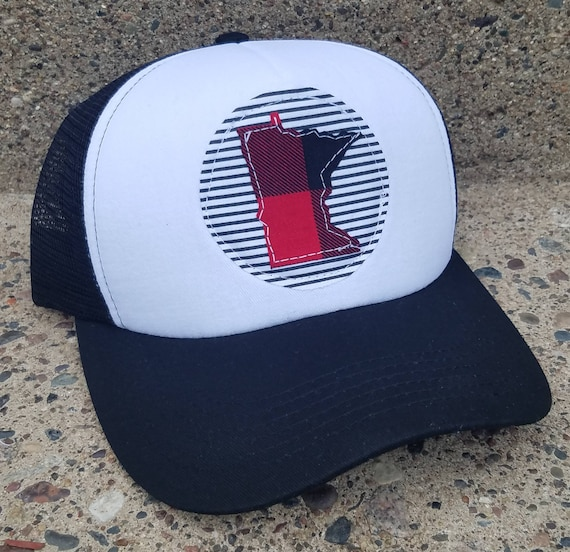 Minnesota Hat | Minnesota Trucker Hat |Trucker Hat | Hat | Buffalo Plaid Trucker Hat | Gift | Cute Hat |