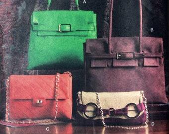 RARE Handbag Sewing Pattern - Tote, Handles, Wide Rectangular Handbag - Vogue 7982 UNCUT - Designer Style Handbag Patterns