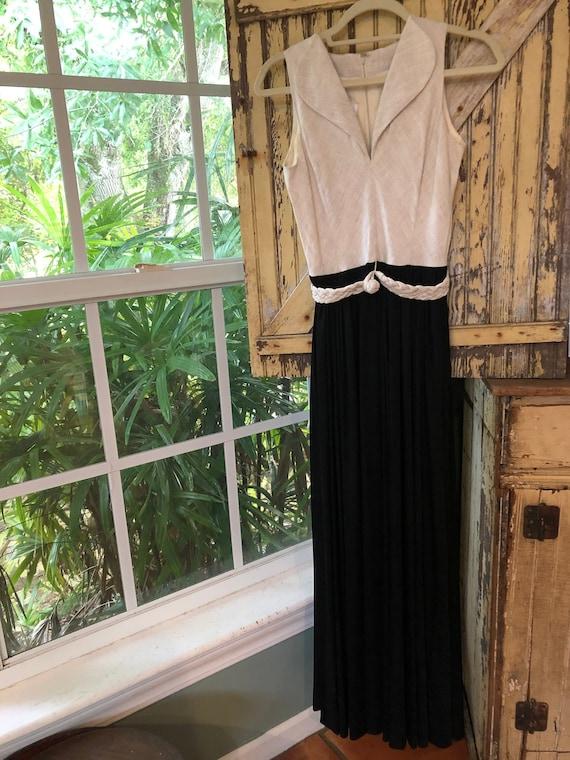 Stunning Donald Brooks 60's maxi dress