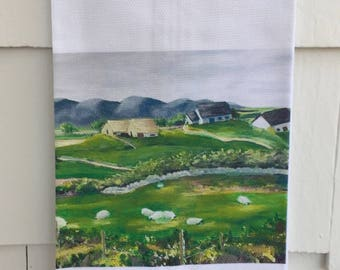 Galway Meadow #7080 Cotton Huck Kitchen Towel